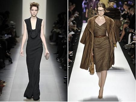 De la stanga la dreapta: Bottega Venetta A/W 2008, Michael Kors A/W 2008