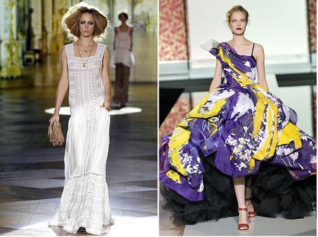 De la stanga la dreapta: Roberto Cavalli S/S 2008, Dolce & Gabbana S/S 2008