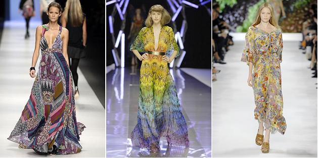 Stil eclectic: Etro S/S 2007; Alexander McQueen S/S 2008; Stella McCartney S/S 2008