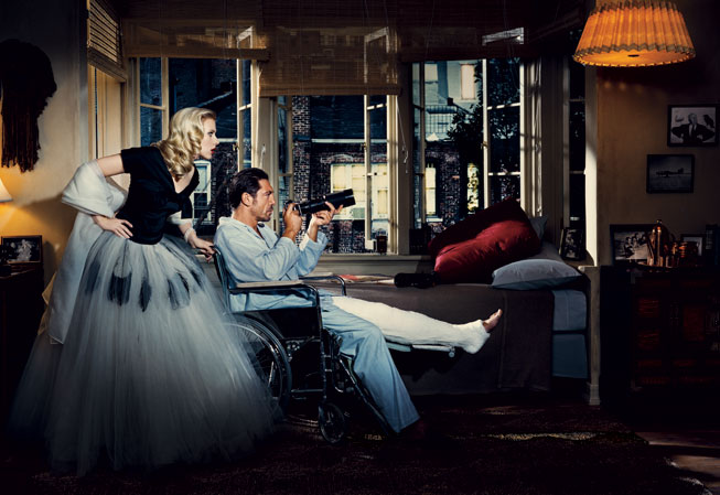 "Scarlett Johansson si Javier Bardem in ""Rear Window"""