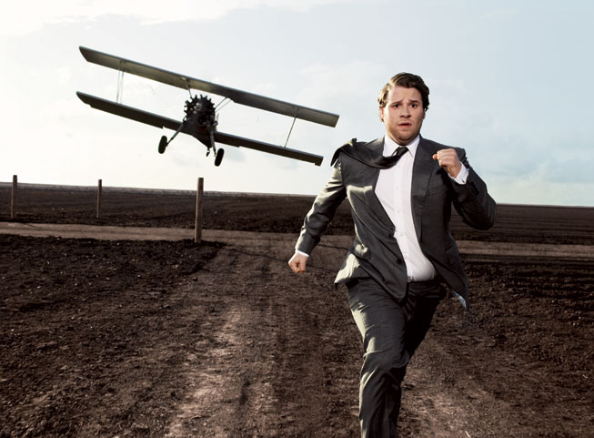 "Seth Rogen in ""North by Northwest"""