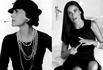 Demi Moore si Coco Chanel