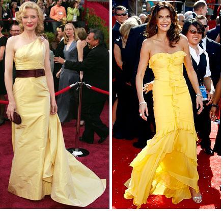 Cate Blanchett in Valentino; Teri Hatcher in Monique Lhuillier