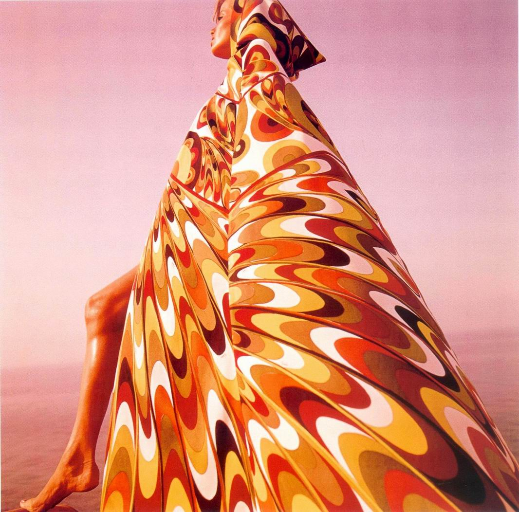 Verushka in Emilio Pucci, fotografiata de Clarke in 1964
