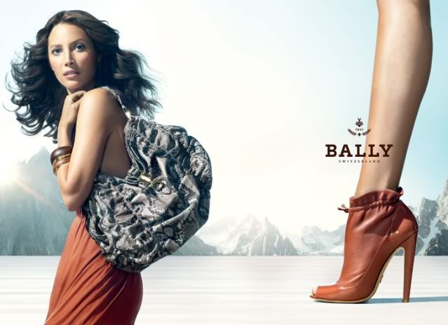 Christy Turlington in campania Bally spring 2010