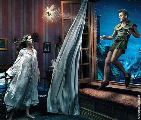 Gisele Bundchen ca Wendy Darling, Tina Fey ca Tinkerbell si Mihail Barashnikov ca Peter Pai