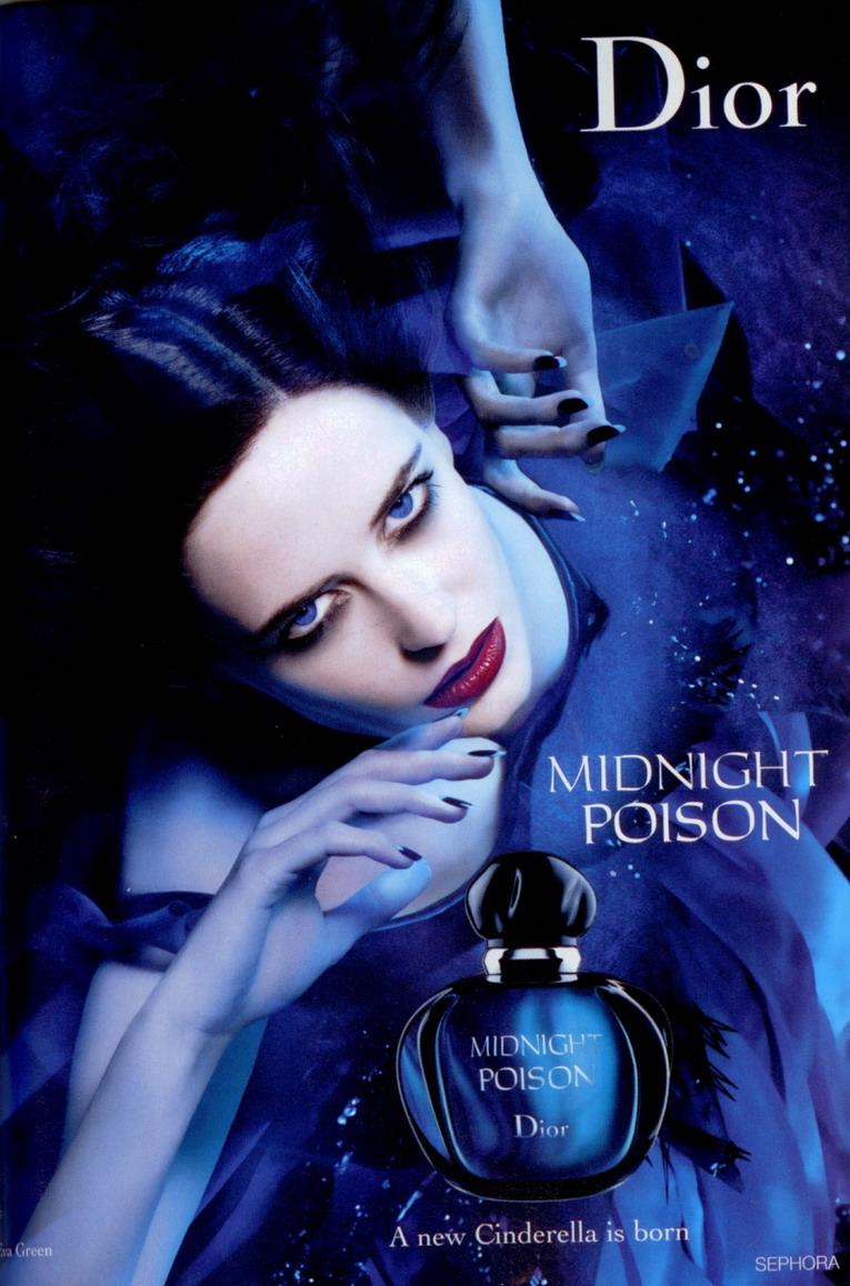 Eva Green in reclama parfumului Midnight Poison Dior