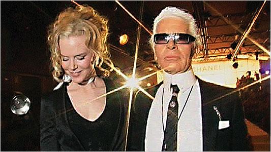 "Nicole Kidman si Karl Lagerfeld in ""Lagerfeld Confidential"" (2007)"