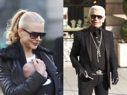 Nicole Kidman si Karl Lagerfeld