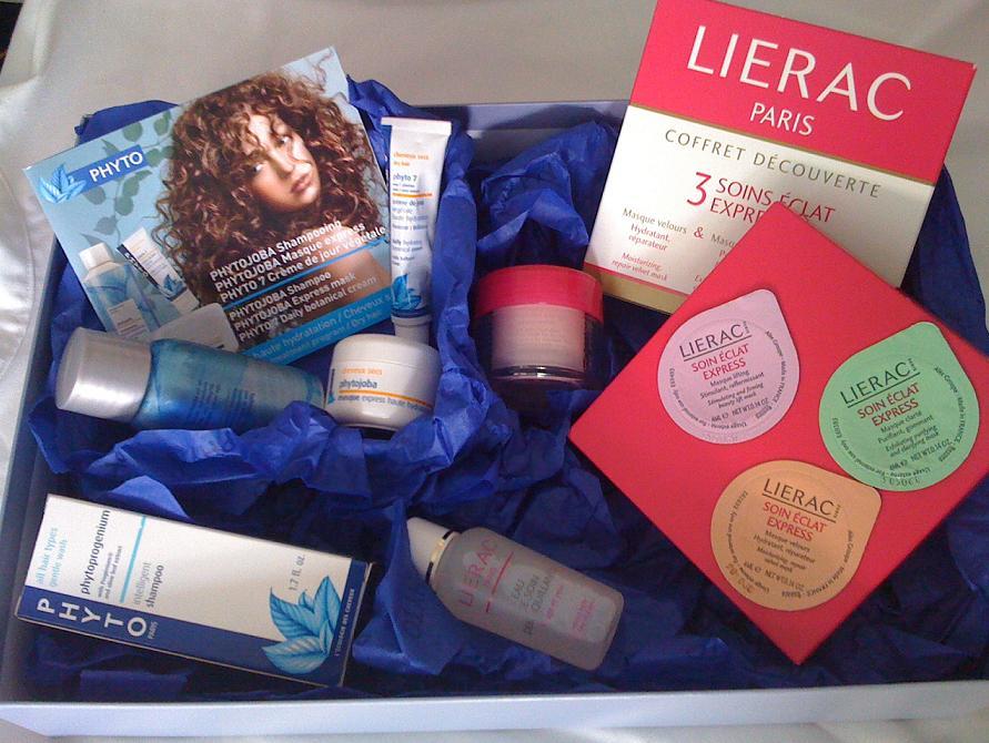 Pachetul pentru beauty-test de la Phyto si Lierac, octombrie 2010