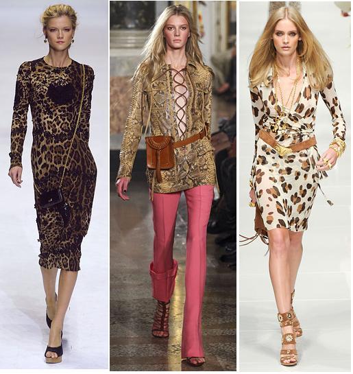 Dolce & Gabbana, Emilio Pucci, Just Cavalli S/S 2011