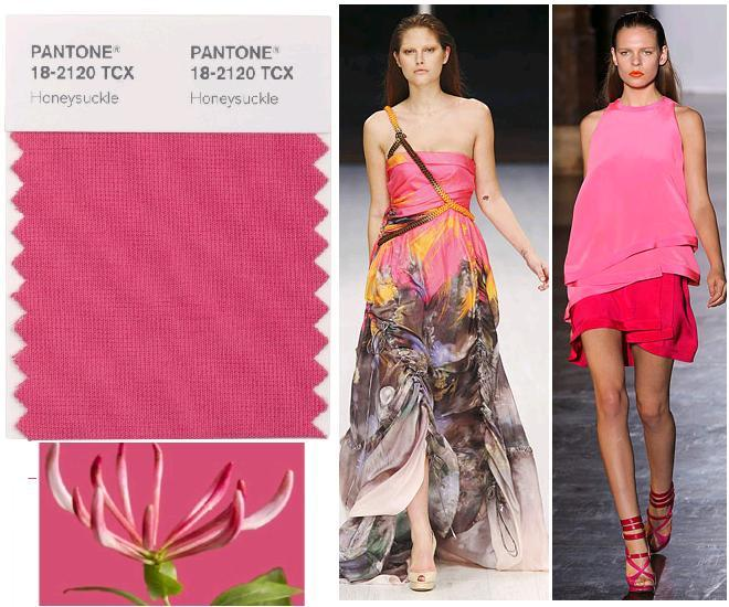 Pantone Honeysuckle pink; Matthew Williamson si Chapurin S/S 2011