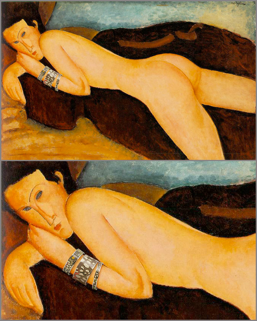 Amedeo Modigliani, Nu couche de dos (1917)