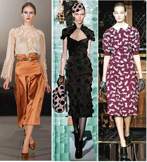 Roksanda Ilincic, Marc Jacobs, Louis Vuitton A/W 2011