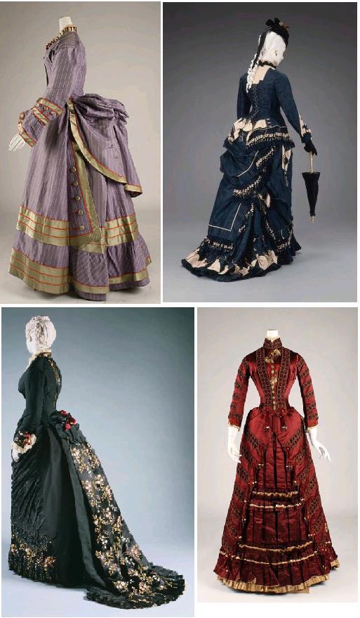 rochii victoriene 1870s