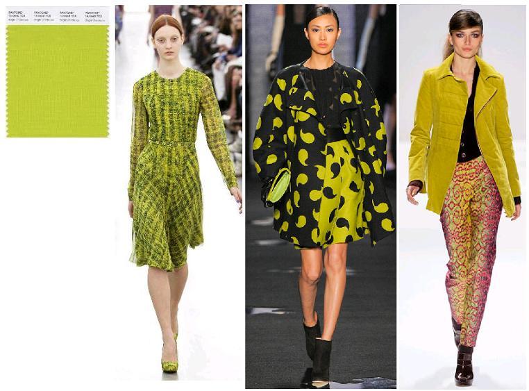 Bright Chartreuse: Erdem, Diane von Furstenberg, Nanette Lepore toamna-iarna 2012
