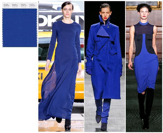 Olympian Blue Pantone 2012: DKNY, Paco Rabbane, Bill Blass toamna-iarna 2012