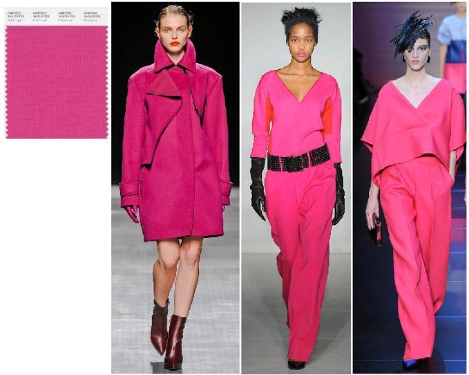 Pink Flambe Pantone 2012: Sportmax, Clements Ribeiro, Armani Prive toamna-iarna 2012