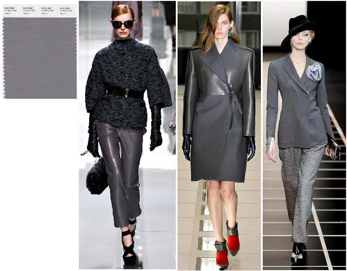 Titanium Pantone 2012: Christian Dior, Balenciaga, Giorgio Armani toamna-iarna 2012