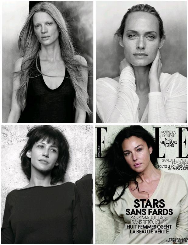 Stars sans fards: Kristen McMenamy, Amber Valetta, Sophie Marceau, Monica Bellucci