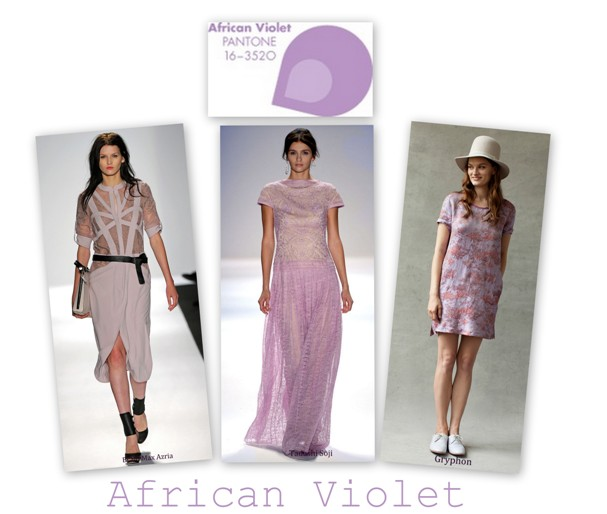 African Violet in colectiile BCBG MaxAzria, Tadashi Shoji, Griphon S/S 2013