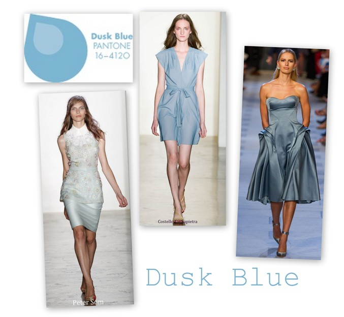 Dusk Blue in colectiile Peter Som Costello Tagliapietra Zac Posen S/S 2013