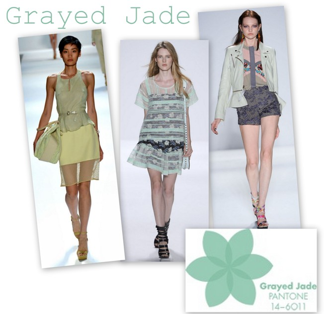 Grayed Jade in colectiile Charlotte Ronson Rebecca Minkoff Nicole Miller S/S 2013