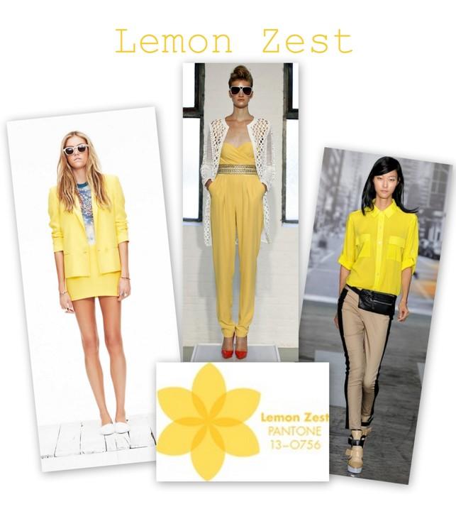 Lemon Zest in colectiile Jenny Kayne, Katherine Malandrino, DKNY S/S 2013