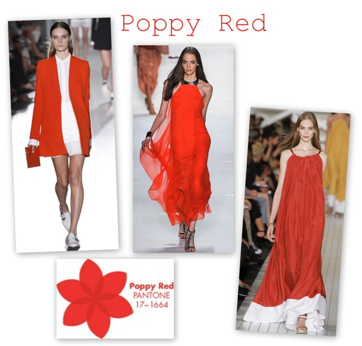 Poppy Red in colectiile Victoria Beckham DVF Tommy Hilfiger S/S 2013