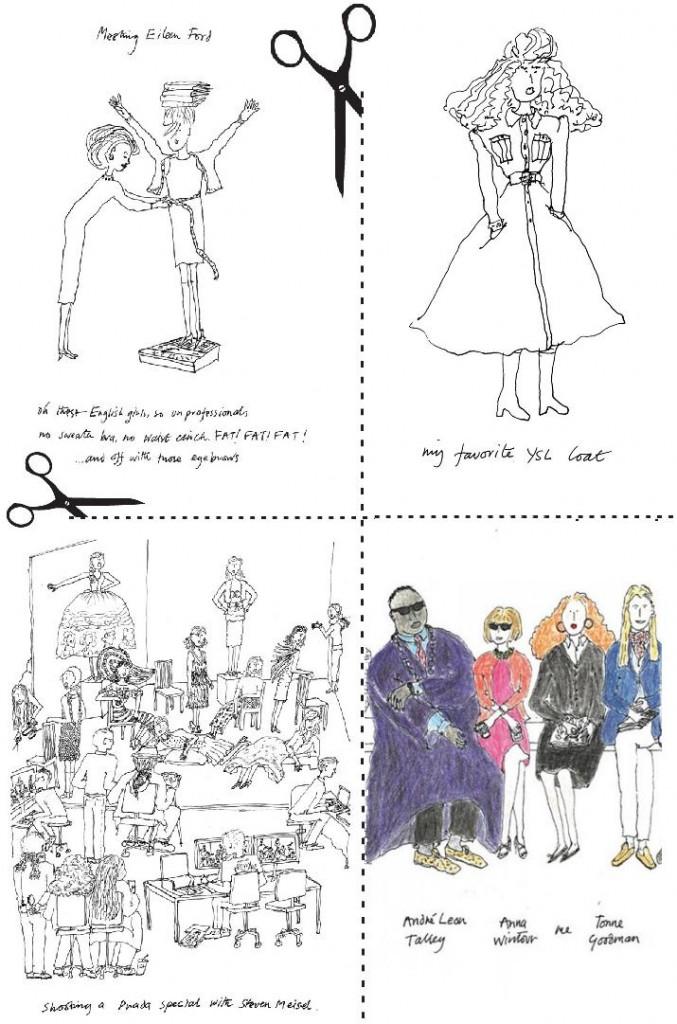 Ilusttratii facute de Grace Coddington pentru autobiografie