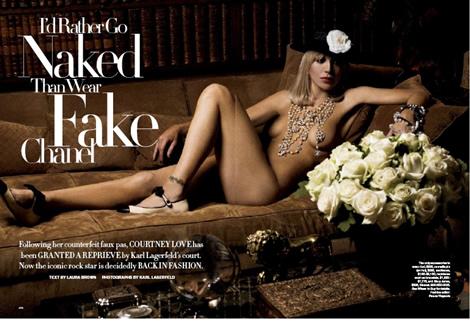 Courtney Love in Harper's Bazaar