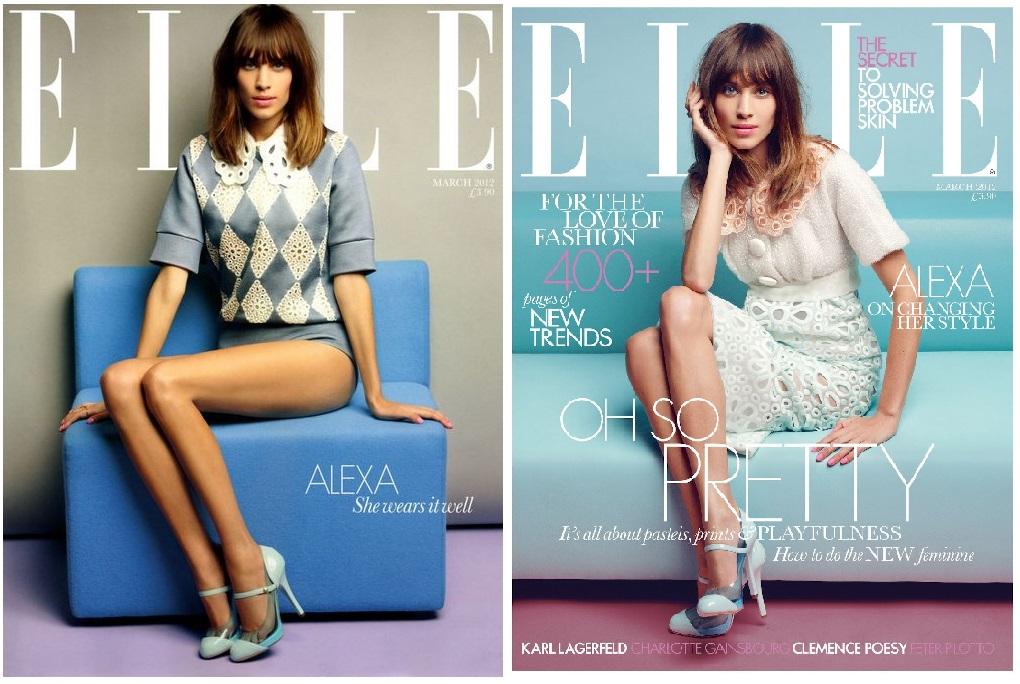 Alexa Chung, coperti Elle: abonament vs chiosc