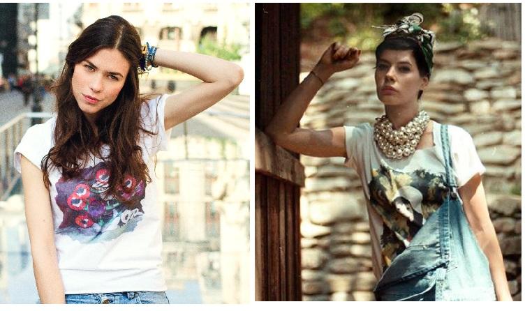 Ana Ularu si Crina Semciuc in tricouri semnate Alina Petcan