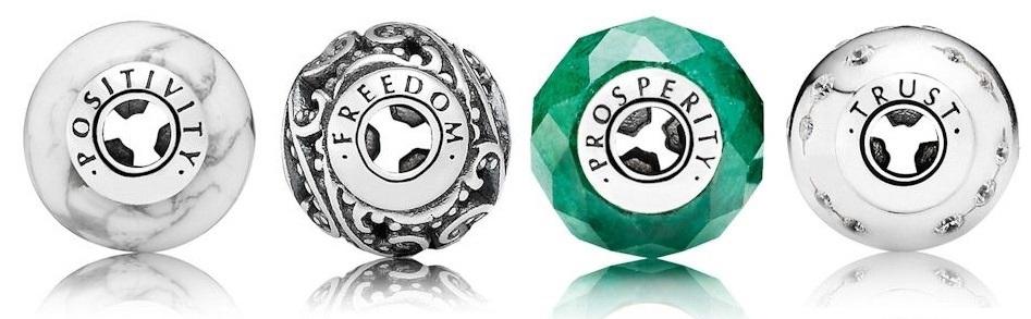 colectia Pandora Essence: positivity freedom prosperity