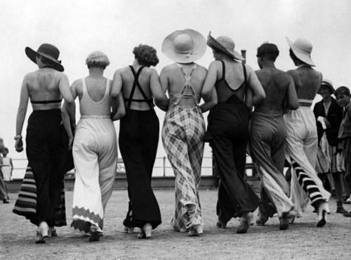 La plaja, in anii '30