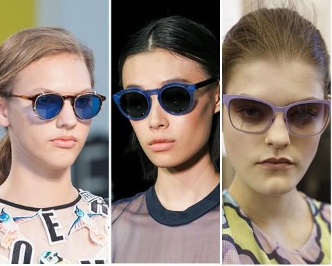 Vara 2015 si ochelarii de soare in tendinte: rame bleu si violet