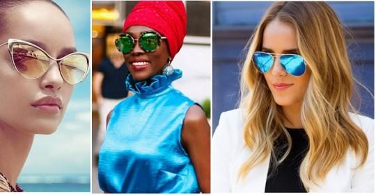 Vara 2015 si ochelarii de soare in tendinte: lentile oglinda