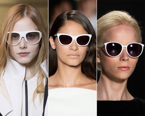 Vara 2015 si ochelarii de soare in tendinte: rame albe